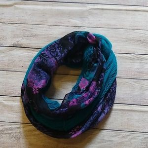 Accessories - Purple and Teal Infinity Scarf Set